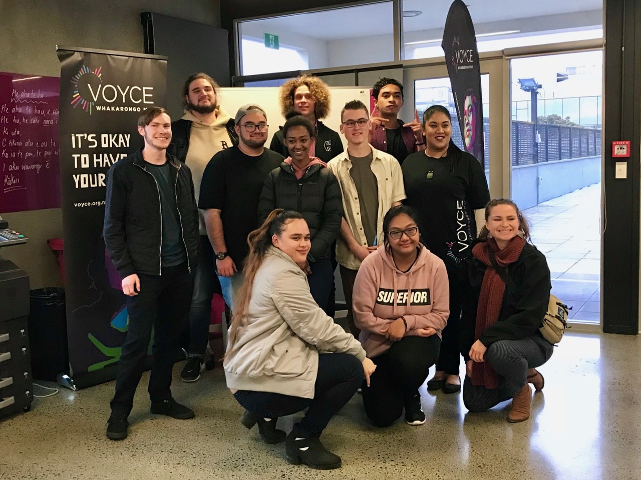 VOYCE National Youth Council team photo at Auckland head office