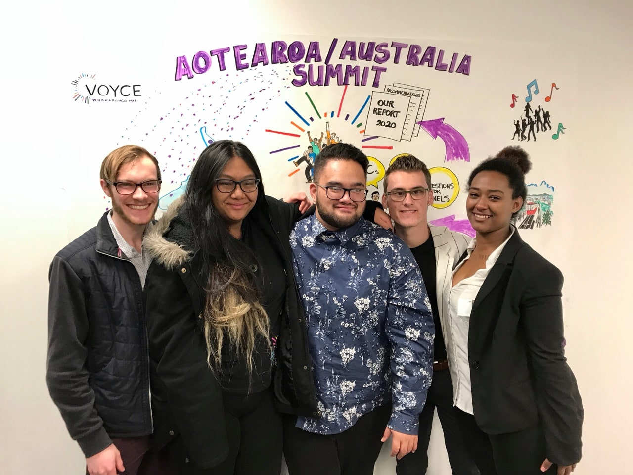 VOYCE National Youth Council team photo at VOYCE Christchurch opening
